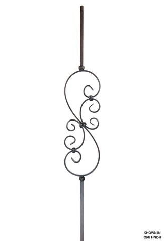2685 Series KW14-M501 Knee Wall Small Scroll Iron Baluster