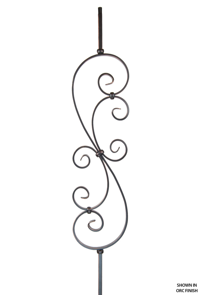 2581 Series M601 Skinny Scroll Iron Baluster