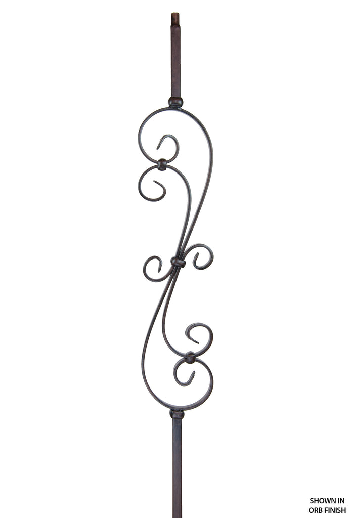 2881 Series MEGA-601 Skinny Scroll Mega Iron Baluster
