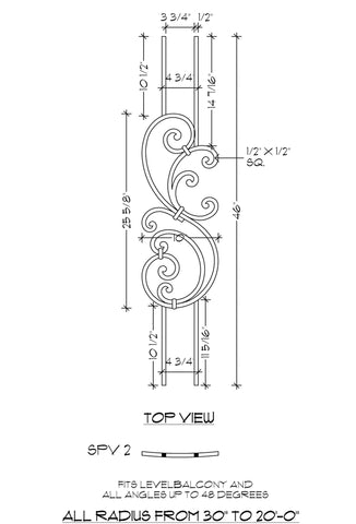Tuscany Single Panel Vertical (SPV) Series - SPV2 Curved Panel