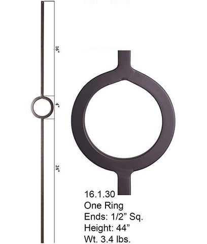 HF 16.1.30 Single Ring Iron Baluster