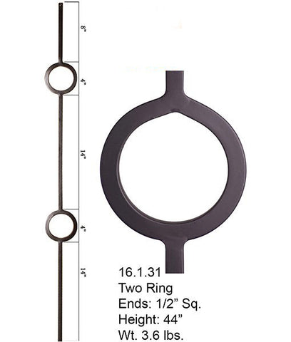 HF 16.1.31 Double Ring Iron Baluster
