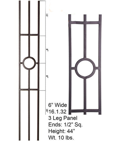 HF 16.1.32 Single Ring 3 Legged Iron Panel