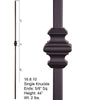 HF 16.8.10 Single Knuckle Square Hollow Iron Baluster