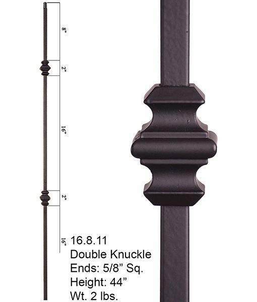 HF 16.8.11 Doube Knuckle Square Hollow Iron Baluster