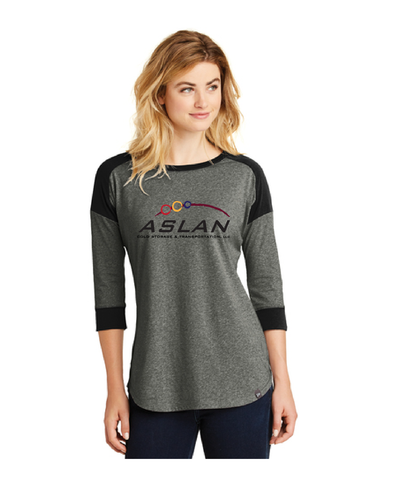 ASLAN New Era® Ladies Baseball Raglan Tee
