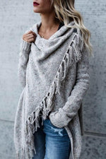 Fringed Casual Knitted Coat Sweaters