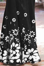 Casual Print Floral Sleeveless Maxi Dress