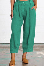 Casual Solid Loose Pocket Pants