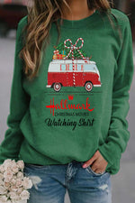 Hallmark Bus With Christmas Gift Print Casual Sweatshirt