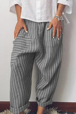 Striped Casual Shift Pants