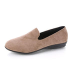 Solid Round Toe Casual Slip-on Shoes