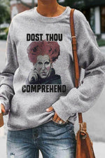 Dost Thou Carney Witch Halloween Print Party Sweatshirt