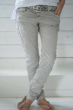 Cotton Casual Pockets Solid Pants
