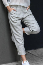 Casual Paneled Solid Side Pockets Pants