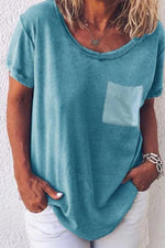 Round Neck Short Sleeves Solid T-shirts