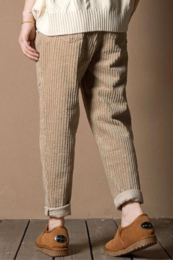 Loose Casual Solid Side Pockets Pants