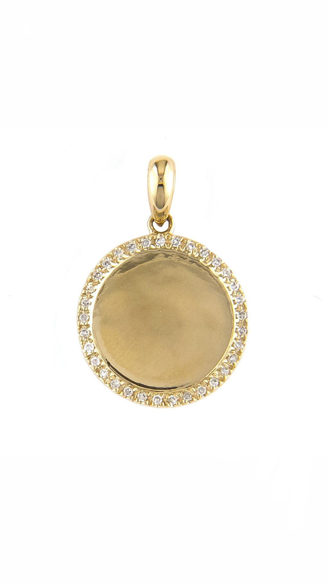 Medium Disk Pave Diamond Charm