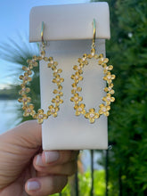 Load image into Gallery viewer, Large Flower Statement Earrings