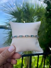 Load image into Gallery viewer, Simulated Aquamarine Bracelet