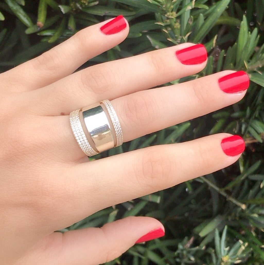 Silver Strand Statement Ring