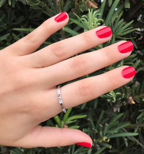 Silver Emily Ring