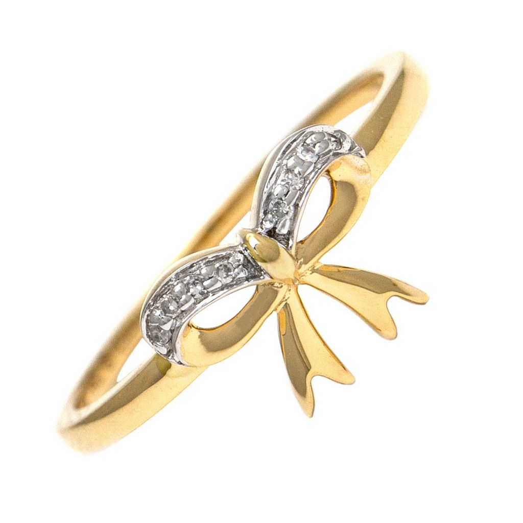14K Bow Ring