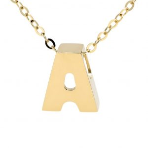 14K Mini Initial Necklace