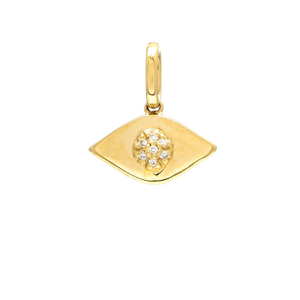 Gold Eye Diamond Charm