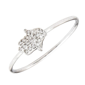 Hamsa Diamond Ring