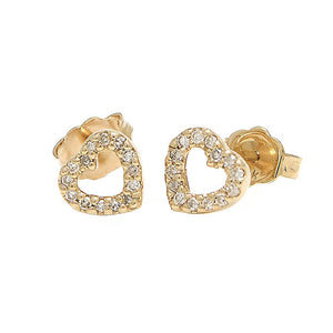 14K Open Heart Earrings