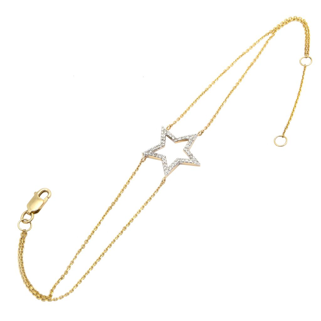 14K Diamond Star Bracelet