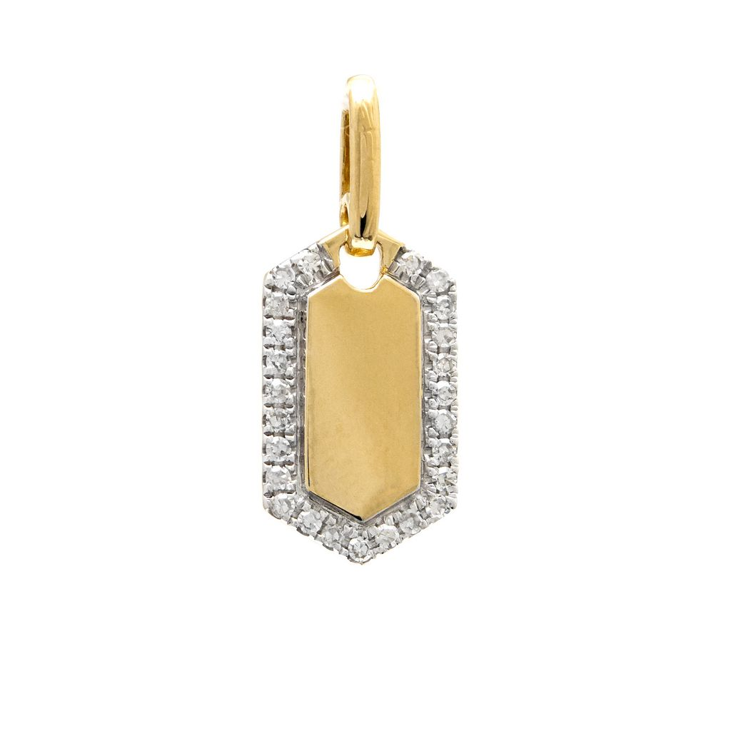 Gold Diamond Charm