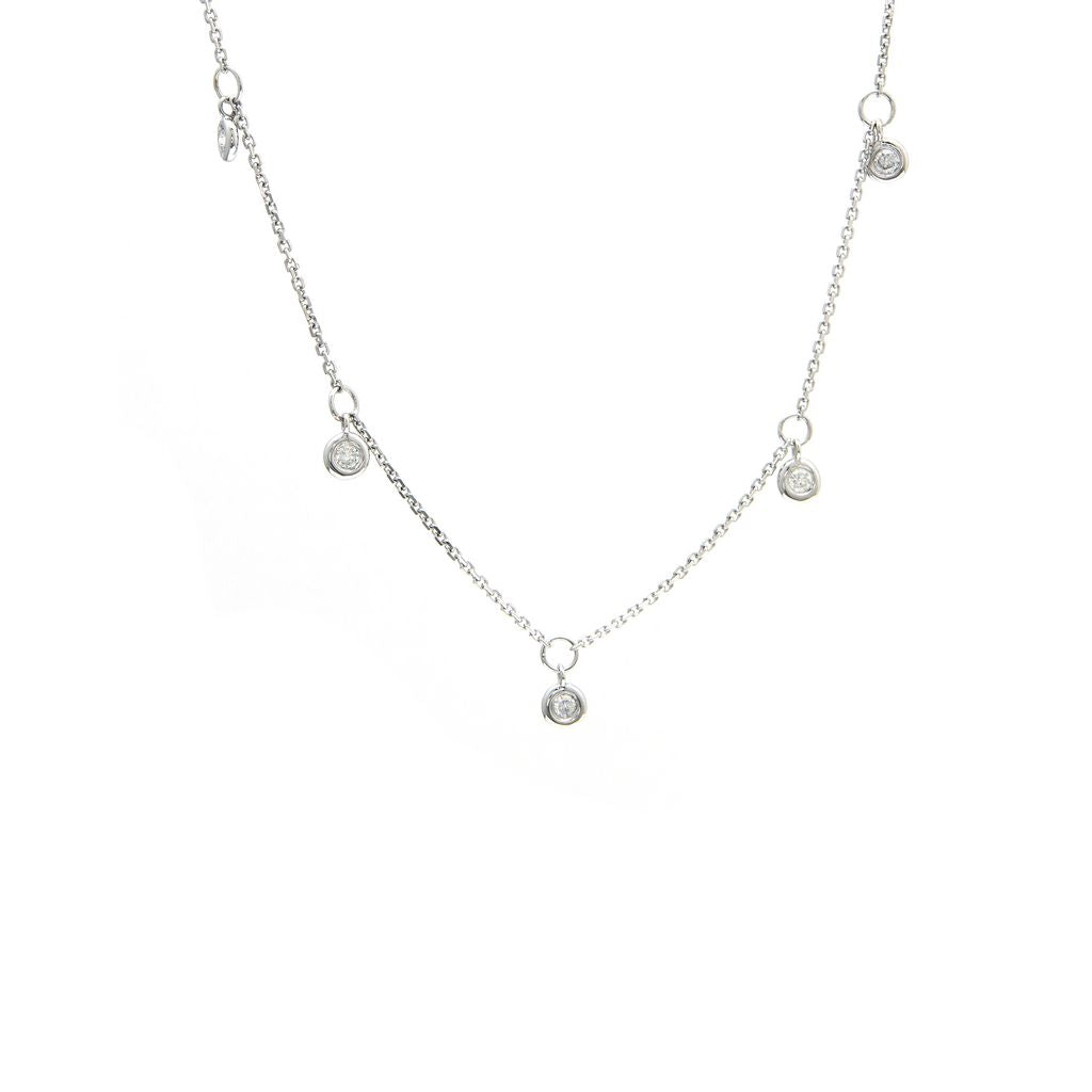 Diamond By the Yard Dangling Necklace