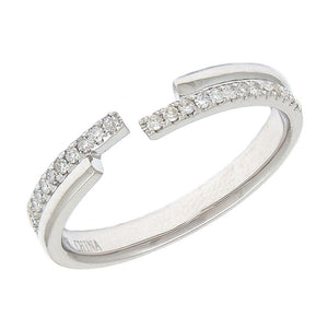 14K Open Diamond Ring