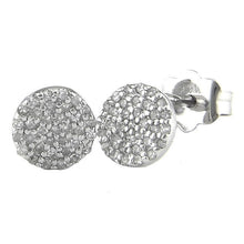 Load image into Gallery viewer, 14K Pave Diamond Earrings