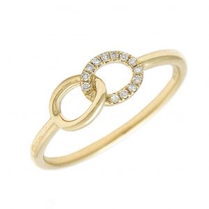 14K Interlock Friendship Ring