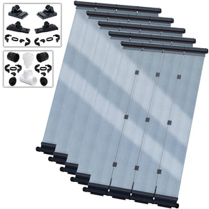 SwimLux Premier DIY Solar Pool Heater Kit - Polymeric Glazing Significantly Enhances Performance