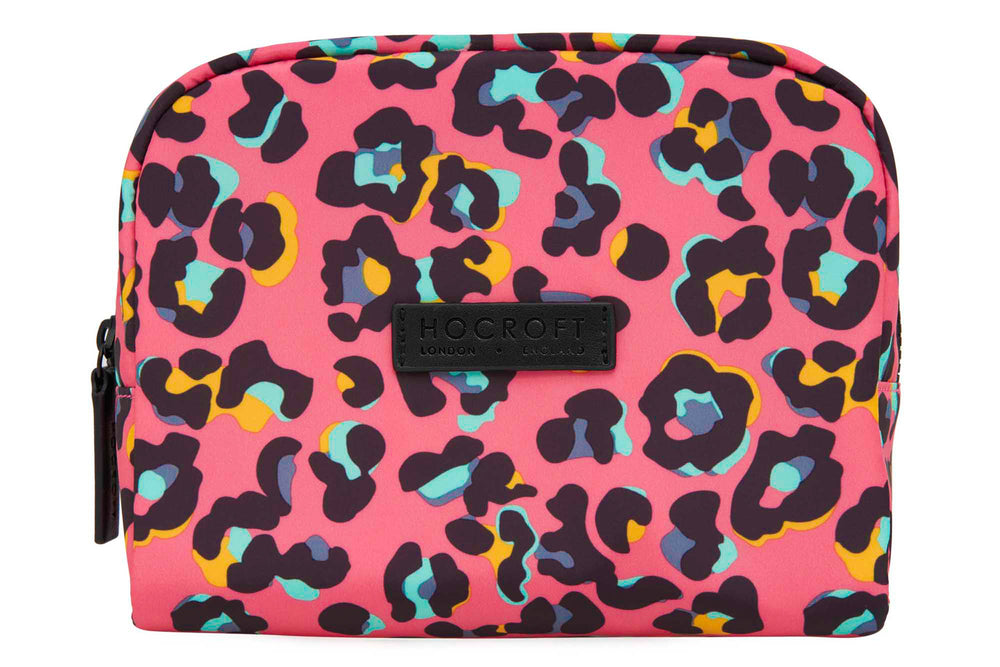 Daphne Makeup Bag Pink Leopard