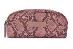 Sophia Small Makeup Bag Pink Snakeskin