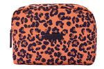 Talulah Large Wash Bag Peach Leopard