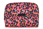 Talulah Large Wash Bag Pink Leopard