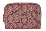 Talulah Large Wash Bag Pink Snakeskin