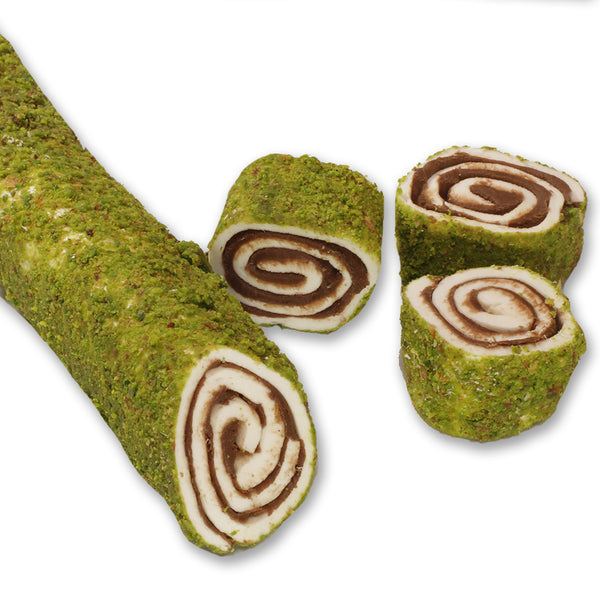 in Chocolate out Pistachio Wrap