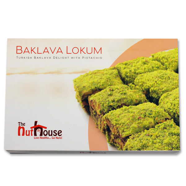 Pistachio Chocolate Baklava Lokum Turkish Delights 400g