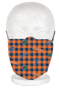 University of Florida Plaid Adult Mask