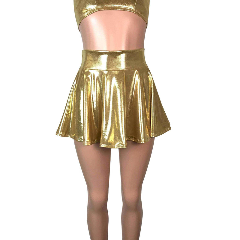 "13"" Skater Skirt - Gold Mystique - Peridot Clothing"