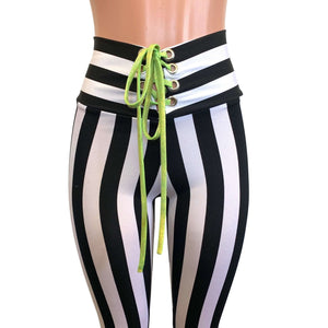 Add Lace-Up Detail to any Bell Bottoms, Leggings, and Booty Shorts in our Shop - Peridot Clothing