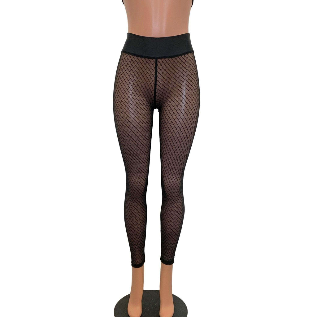 "Black Vixen Mesh ""Fishnet"" Leggings Pants - Peridot Clothing"