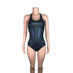 Bodysuit - Black Holographic - Peridot Clothing